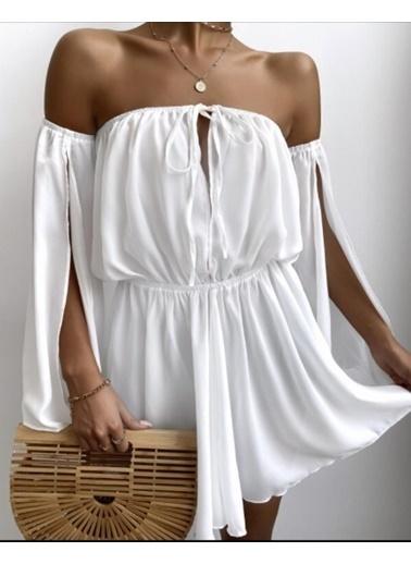 BLACK&GRACE Elbise Beyaz